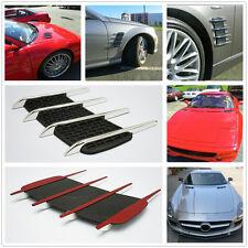 Hood Chrome Air Flow Side Vent Exterior Grille Decorative Sticker For Vehicles