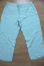 BODEN blue check linen crop trousers size 10R
