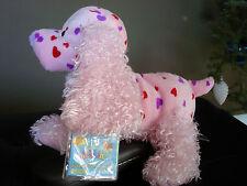 WEBKINZ*Plush/Stuffed*LOVE SPANIEL*Pink/Red Hearts*VALENTINE*Unused/Sealed Code*
