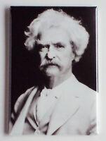 Mark Twain FRIDGE MAGNET (2 x 3 inches) samuel clemens huckleberry finn