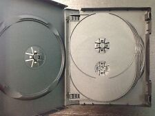 1pc Multi 10-Disc Black Standard XBox 360 Game Movie CD DVD Case 33mm 4 Trays
