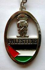 Palestinian Keychain - W/ Palestine Flag & Hanthala (Handala) Figure - Model#3