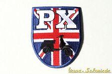 "VESPA Aufnäher ""Wappen PX"" - Blau - UK GB Union Jack Great Britain Piaggio Patch"
