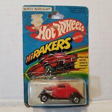 Hot Wheels HiRakers 3 Window '34 1979 NEW CARDED MOC #1132