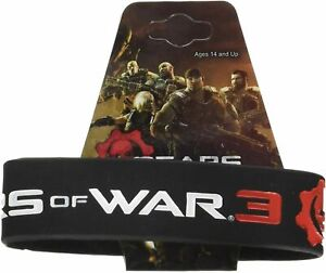NECA Gears of War 3 Logo Thick Rubber Bracelet - Video Game Exclusive Retro
