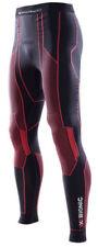 Abbiglimento sportivo da uomo neri di compressione in poliammide