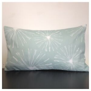 50x30cm Premier Prints Indoor/Outdoor Pale Blue/White Fireworks Cushion Cover
