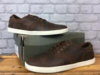 TIMBERLAND MENS UK 10 EU 44.5 FULK LP OXFORD BROWN LEATHER SHOES RRP £90