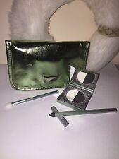 Mally 24/7 Eye Lining System with Applicator ,Shiny Green Case~Crisp Black~NEW