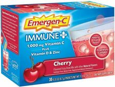 Emergen-C Immune+ 1000mg Vitamin C Immune Support Dietary Supplements, Cherry -