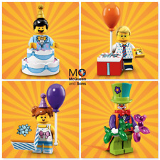 LEGO 71021 Series 18 MINIFIGURES Clown Boy Girl Cake Guy Party CMF Birthday Set