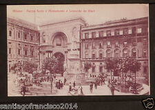 ITALY 692 MILANO -Piazza Scala e Monumento a Leonardo da Vinci