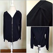 ADIDAS Cardigan Sweater Long Sleeve Navy Women's European Style Size 36 (Small)
