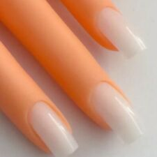 120 Künstliche Fingernägel Full Size Cover Tips Milky Natur