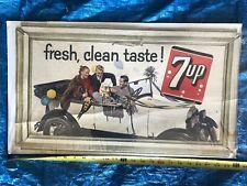 Vintage 7-Up Cardboard Sign