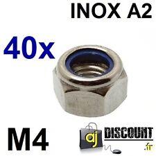 40x Ecrou frein NYLSTOP - M4 - INOX A2 - DIN 985 - Indésserable