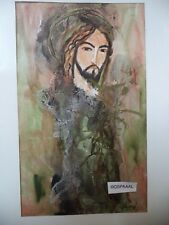Cuba CHAMART Artist Charo Hand SIGNED Painting PIRATE THINKING O F PLUNDER PG