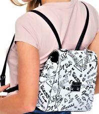 NWT GUESS DAZZLING LOGO GRAFFITI BACKPACK & Crossbody Bag GENUINE