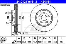 2x Bremsscheibe für Bremsanlage Vorderachse ATE 24.0124-0161.1