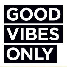 Good Vibes Only Wall Decor Vinyl Decal Laptop Bumper Car Sticker Great Offices!