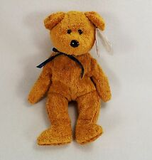"""RARE """"FUZZ"""" TEDDY BEAR 3 ERRORS-TY BEANIE BABY-ADULT OWNED-EX COND"""