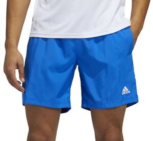 adidas Run It 3 Stripe PB 5 Inch Mens Running Shorts - Blue