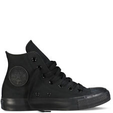 Converse Unisex Chuck Taylor All Star Hi Top Black Mono Lace Up Canvas Trainers