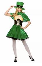Women's Lucky Leprechaun Fancy Dress St Patricks Day Halloween Costume UK 10-20