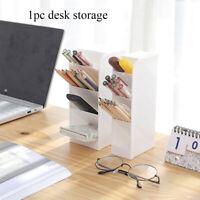Matte Sub-grid Cosmetic Storage Desk Holder Pen Case Makeup Organizer