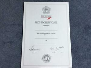 British Airways Concorde Blank Mint Concorde Original Flight Certificate 1976-86