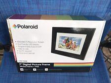 "Polaroid 7"" Digital Photo Picture Frame LED Display Black Frame + Mat PDF-750W"