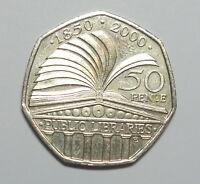 GREAT BRITAIN FIFTY PENCE  2000.  150TH. ANNIVERSARY OF PUBLIC LIBRARIES