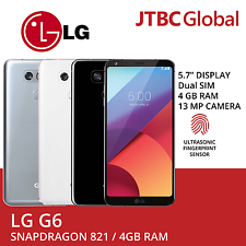 New LG G6 5.7 Inch Dual Sim 4GB RAM 64GB 13MP Factory Unlocked Android Phone