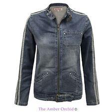 Zip Waist Length Cotton Casual Coats & Jackets for Women
