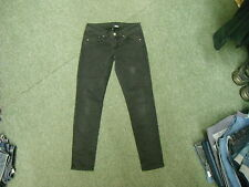 """Divided Skinny Jeans Size 10 Leg 27"""" Black Faded Ladies Jeans"""