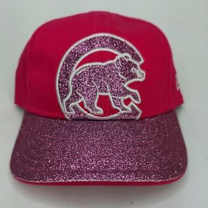 Chicago Cubs New Era 9Forty Girl Toddler Junior Kids Youth Pink Sparkles Hat