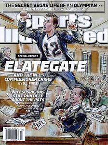 New Sports Illustrated Tom Brady Patriots Elategate 9/14/15 2015 No Label