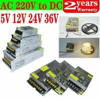 AC to DC 5V 12V 24V 36V Power Supply Driver Transformer Regulated For LED Light