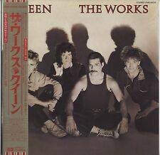 Queen - The Works JAPAN LP with OBI and INSERTS Poster