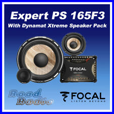 "FOCAL Expert PS165F3 6"".5 Flax Cone 3 Way Component Speaker Kit With Dynamat"