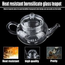 Heat Resistan Glass Teapot With Infuser Coffee Tea Leaf Herbal Pot 250ml KW