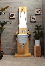 Mobile bagno Struttura portalavabo in legno con specchio per lavabi Bacile