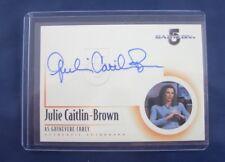 Babylon 5 Autograph Card A11 Julie Caitlin-Brown as Guinevere Corey