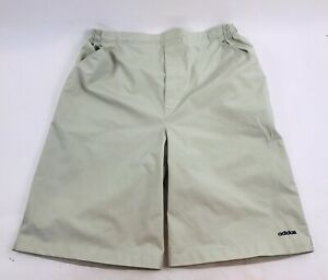 ADIDAS Men's Light Gray/Tan Large Shorts style CA 00411 100% Nylon Elastic Waist