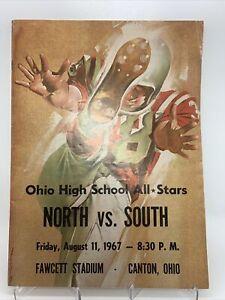 1967 Ohio High School Football North South All Star Game Program Fawcett Stadium