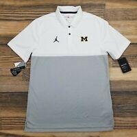Air Jordan Mens Medium Michigan Wolverines On-Field Polo Shirt Golf Standard Fit
