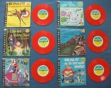 VINTAGE 1961 GALA GOLDENTONE 6 CHILDRENS RECORDS 78RPM COLOUR DISCS MITCH MILLER