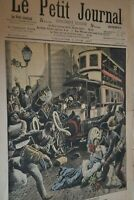 Supplément illustré Le Petit Journal N°863 / 2-6-1907 / Les méfaits de l'autobus