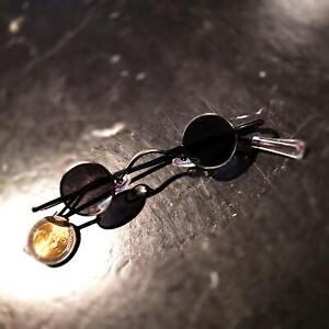 Retro Sonnenbrille mit runden Mini Gläsern im Gothic Style Vampir Punk Victorian