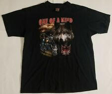 VINTAGE 3D EMBLEM ONE OF A KIND WOLF COUNTRY BOYS  SHIRLEY, IN T-SHIRT SZ XL